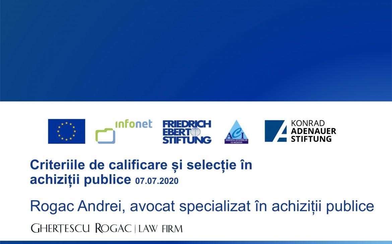 Criterii de calificare și atribuire în achiziții publice